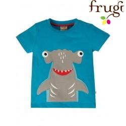 """frugi - Bio Kinder T-Shirt """"James"""" mit Hai-Motiv"""