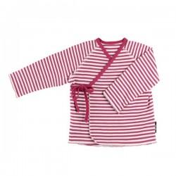 pure pure by BAUER - Bio Baby Jersey Wickeljacke mit Streifen, UPF 30-35