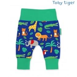 Toby tiger - Bio Baby Sweathose mit Dschungel-Allover