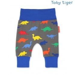 Toby tiger - Bio Baby Jerseyhose mit Dino-Allover
