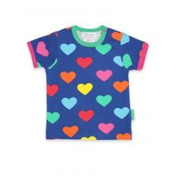 Toby tiger - Bio Kinder T-Shirt mit Herzen-Allover