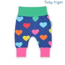 Toby tiger - Bio Baby Sweathose mit Herzen-Allover