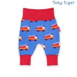 Toby tiger - Bio Baby Sweathose mit Feuerwehr-Allover