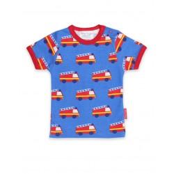 Toby tiger - Bio Kinder T-Shirt mit Feuerwehr-Allover