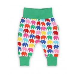 Toby tiger - Bio Baby Jerseyhose mit Elefanten-Allover