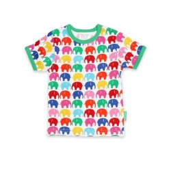 Toby tiger - Bio Kinder T-Shirt mit Elefanten-Allover
