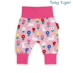 Toby tiger - Bio Baby Sweathose mit Hasen-Allover
