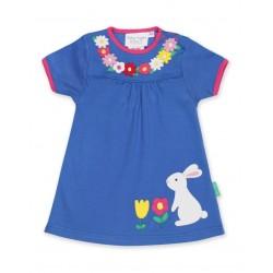 Toby tiger - Bio Kinder Kleid mit Hasen-Applikation