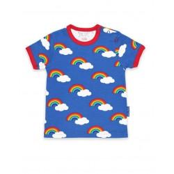Toby tiger - Bio Kinder T-Shirt mit Regenbogen-Allover