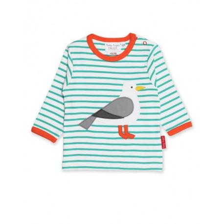 Little Green Radicals Kinder T-Shirt Streifen hellblau blau