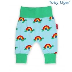 Toby tiger - Bio Baby Sweathose mit Schildkröten-Allover