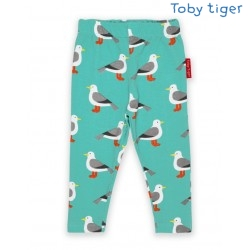Toby tiger - Bio Kinder Leggings mit Möwen-Allover