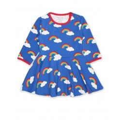Toby tiger - Bio Kinder Kleid mit Regenbogen-Allover