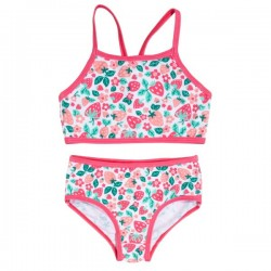 kite kids - Bio Kinder Bikini mit Erdbeer-Allover, UV50+