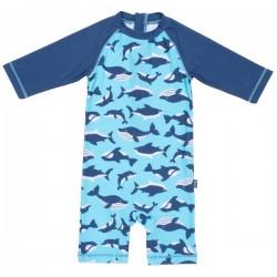 kite kids - Baby Schwimmanzug mit Wal und Delfin-Allover