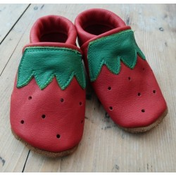 Diseno-C - Bio Baby Lederpuschen Erdbeere