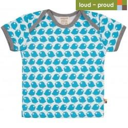 loud + proud - Bio Kinder T-Shirt mit Vogel-Druck, petrol