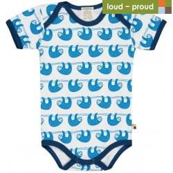 loud + proud - Bio Baby Body kurzarm mit Faultier-Druck