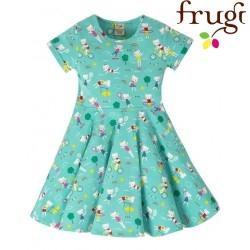 """frugi - Bio Kinder Jersey Kleid """"Spring"""" mit Katzen-Motiv"""