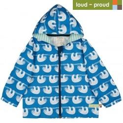 loud + proud - Bio Kinder Jacke mit Faultier-Druck, wasserabweisend