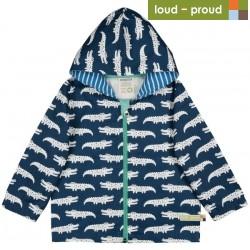 loud + proud - Bio Kinder Jacke mit Krokodil-Druck, wasserabweisend