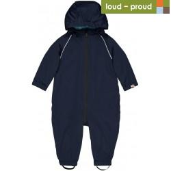 loud + proud - Bio Baby Regenoverall, marine, wasserabweisend