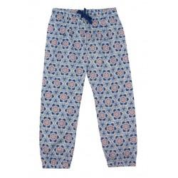 Enfant Terrible - Bio Kinder Stoffhose mit Mosaik-Muster, blau