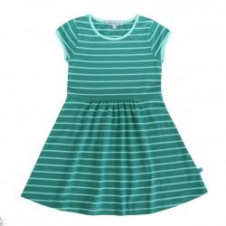 Enfant Terrible - Bio Kinder Jersey Kleid mit Streifen, petrol-ocean