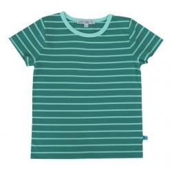 Enfant Terrible - Bio Kinder T-Shirt mit Streifen, petrol-ocean