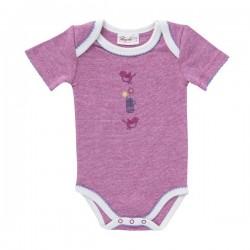 People Wear Organic - Bio Baby Body kurzarm mit Vogel-Druck