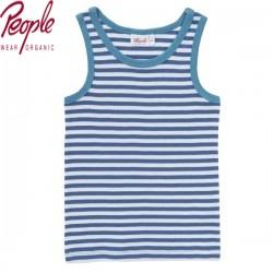 People Wear Organic - Bio Kinder Unterhemd mit Streifen, blau