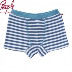 People Wear Organic - Bio Kinder Boxershorts mit Streifen, blau