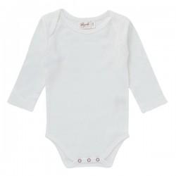 People Wear Organic - Bio Baby Body langarm mit Ajour-Muster, weiß