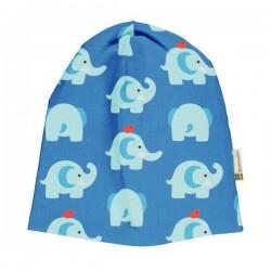 """Maxomorra - Bio Baby Jerseymütze """"Elephant Friends"""" mit Elefanten-Allover"""