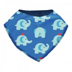 "Maxomorra - Bio Baby Tuch ""Elephant Friends"" mit Elefanten-Allover"
