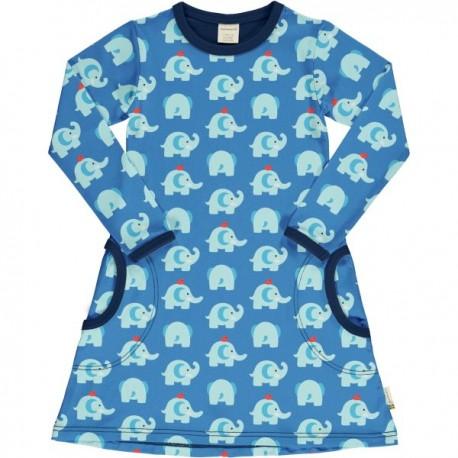 "Maxomorra - Bio Kinder Jersey Kleid ""Elephant Friends"" mit Elefanten-Motiv"