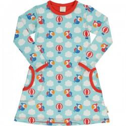 "Maxomorra - Bio Kinder Jersey Kleid ""Parrot Safari"" mit Papagaien-Motiv"