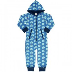 "Maxomorra - Bio Kinder Jersey Overall ""Elephant Friends"" mit Elefanten-Allover"