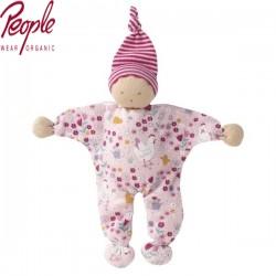 People Wear Organic - Manderl Puppe mit Hühnchen-Allover