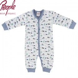 People Wear Organic - Bio Baby Strampler mit Maulwurf-Allover