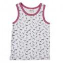 People Wear Organic - Bio Kinder Unterhemd mit Vogel-Allover