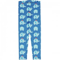 "Maxomorra - Bio Kinder Leggings ""Elephant Friends"" mit Elefanten-Allover"