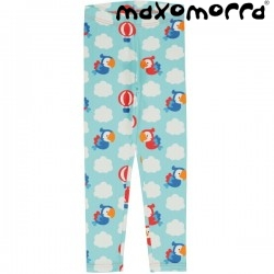"Maxomorra - Bio Kinder Leggings ""Parrot Safari"" mit Papagaien-Allover"