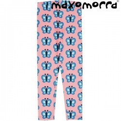 "Maxomorra - Bio Kinder Leggings ""Bluewing Butterfly"" mit Schmetterlingen-Allover"