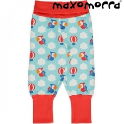 "Maxomorra - Bio Baby Sweathose ""Parrot Safari"" mit Papagaien-Allover"
