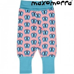 "Maxomorra - Bio Baby Sweathose ""Bluewing Butterfly"" mit Schmetterlingen-Allover"