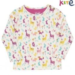 kite kids - Bio Baby Langarmshirt mit Waldtieren-Motiv