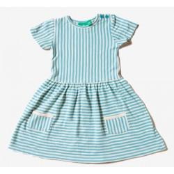 Little Green Radicals - Bio Kinder Jersey Kleid mit Streifen, blau