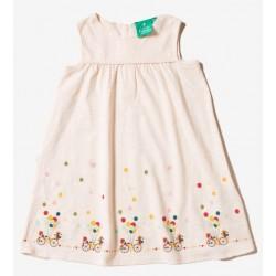 Little Green Radicals - Bio Kinder Jersey Kleid mit Fahrrad-Motiv