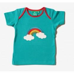 Little Green Radicals - Bio Baby T-Shirt mit Regenbogen-Applikation